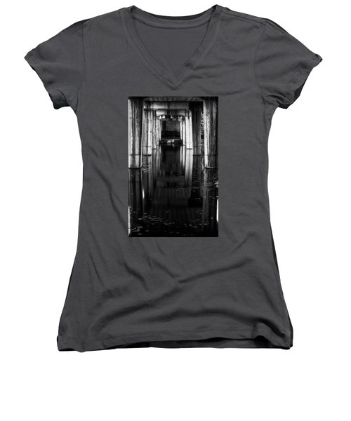 Under The Bridge Women's V-Neck T-Shirt