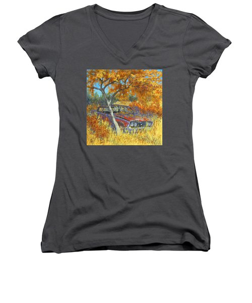 Under The Chinese Elm Tree Women's V-Neck