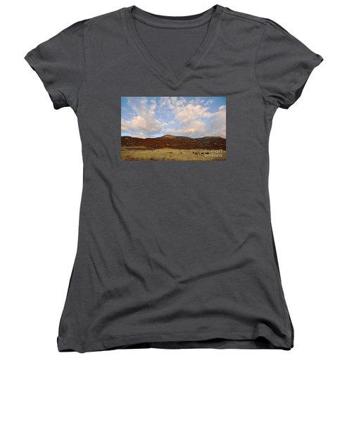 Under The Colorado Sky Women's V-Neck T-Shirt