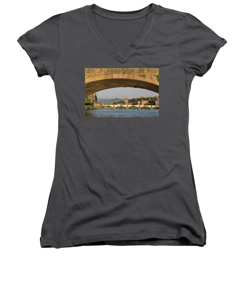 Under The Ponte Santa Trinita Women's V-Neck T-Shirt
