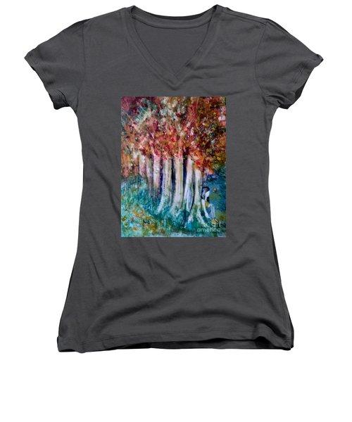 Under The Trees Women's V-Neck T-Shirt