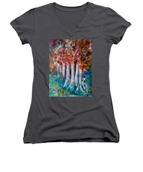 Under The Trees Women's V-Neck (Athletic Fit)