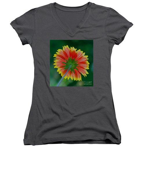 Under Your Spell Women's V-Neck T-Shirt (Junior Cut) by Larry Nieland