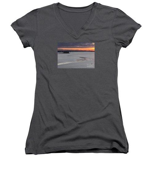 Undercurrents Casco Bay Women's V-Neck T-Shirt (Junior Cut)
