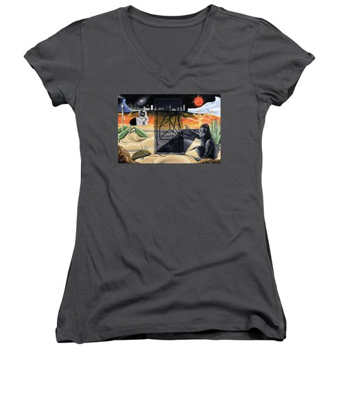 Understanding Time Women's V-Neck T-Shirt (Junior Cut) by Ryan Demaree