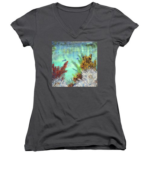 Underwater #2 Women's V-Neck (Athletic Fit)