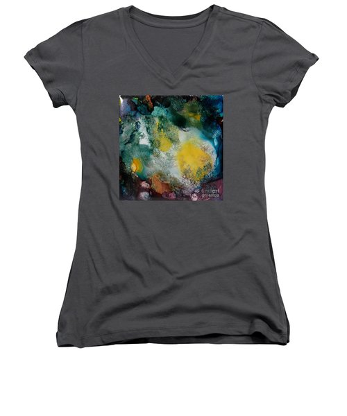 Underwater Cave Women's V-Neck T-Shirt