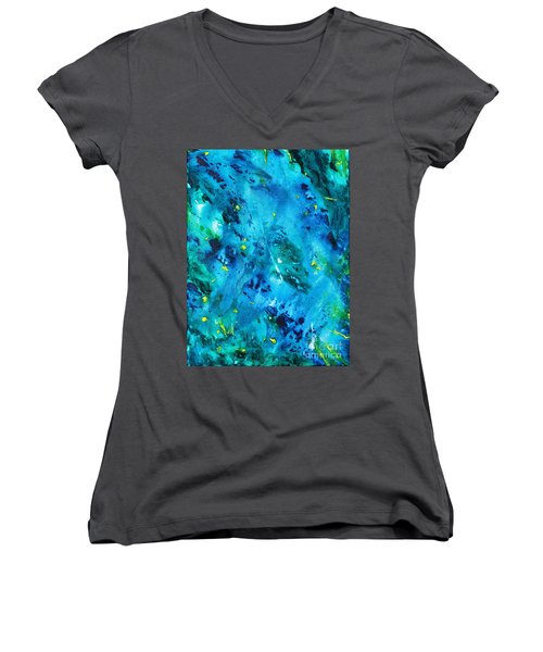 Underwater Forest Women's V-Neck (Athletic Fit)