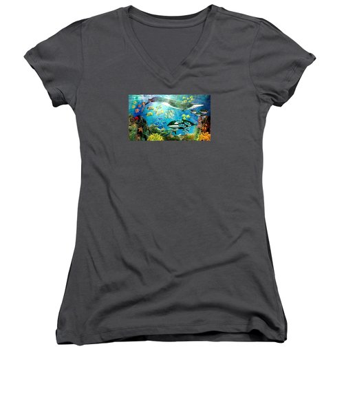 Underwater Magic Women's V-Neck (Athletic Fit)