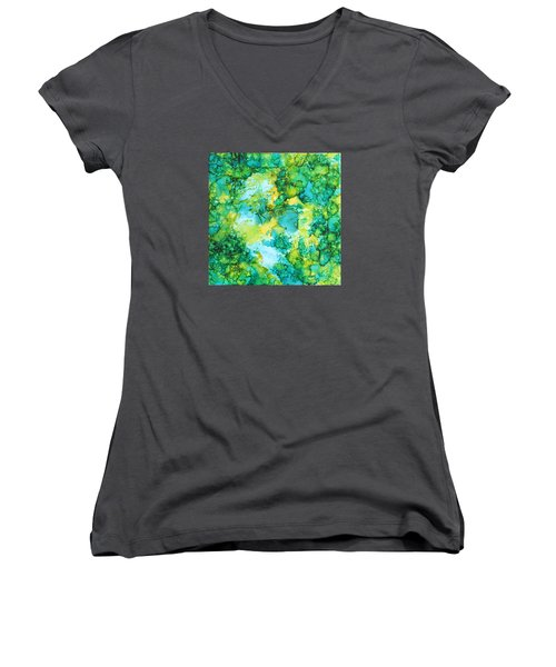 Underwater Map Women's V-Neck (Athletic Fit)