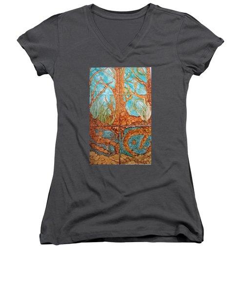 Underwater Trees Women's V-Neck