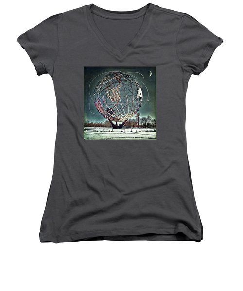 Unisphere Women's V-Neck T-Shirt