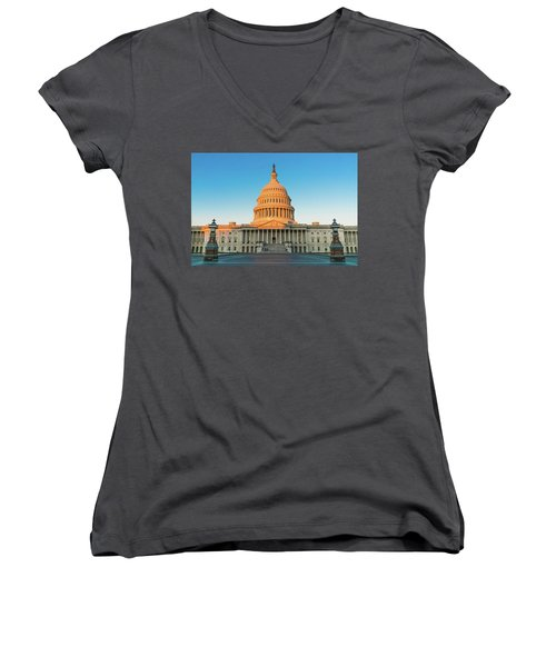 United States Capitol  Women's V-Neck (Athletic Fit)