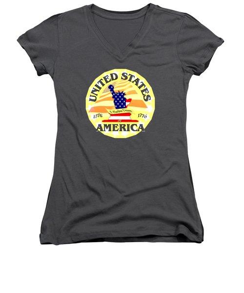 United States Of America Design Women's V-Neck
