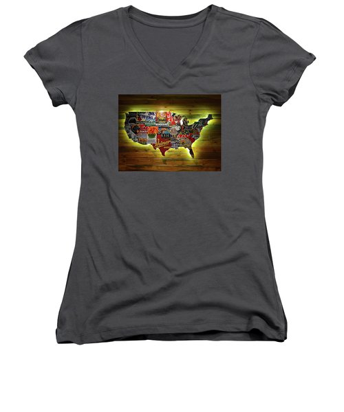 United States Wall Art Women's V-Neck T-Shirt