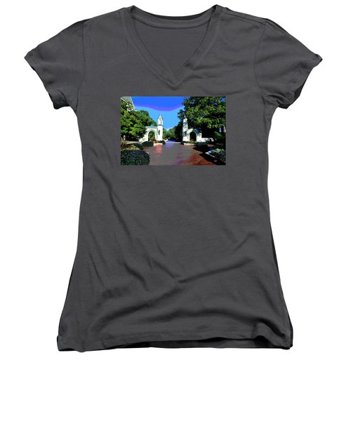 University Of Indiana Women's V-Neck T-Shirt