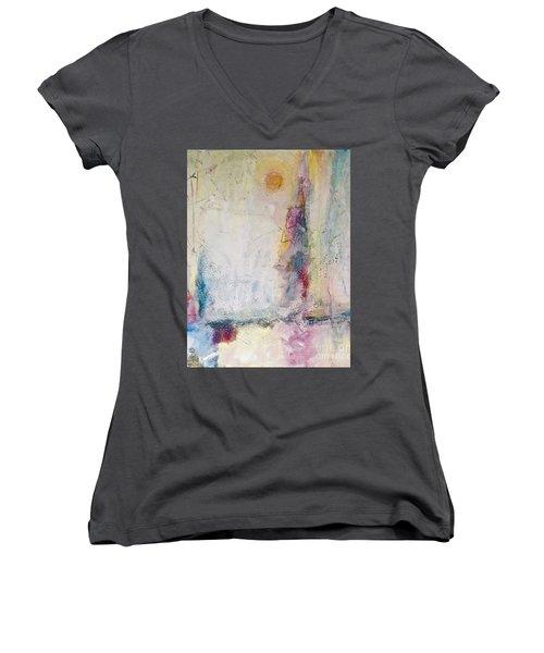 Sherbert Tales Women's V-Neck T-Shirt (Junior Cut) by Gallery Messina