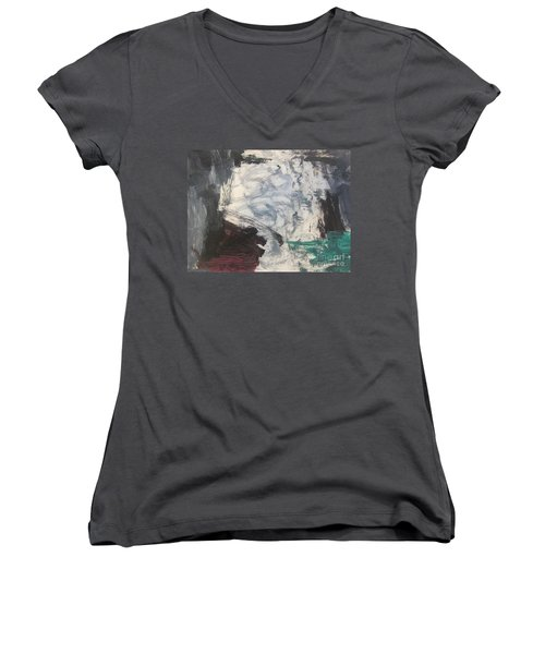 Untitled 127 Original Painting Women's V-Neck (Athletic Fit)