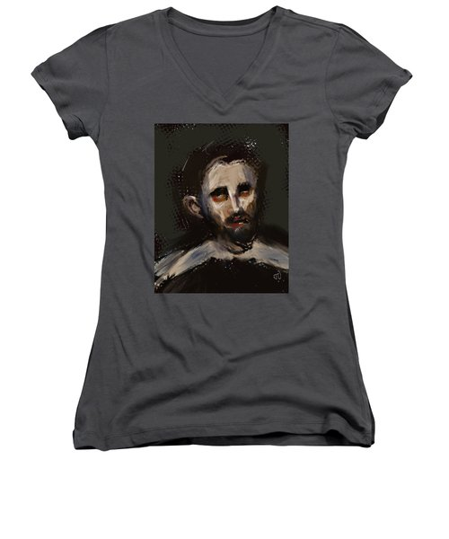Untitled 23feb2017 Women's V-Neck T-Shirt (Junior Cut) by Jim Vance