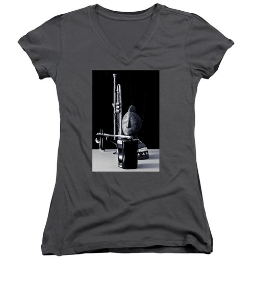 Women's V-Neck T-Shirt featuring the photograph Untitled A by Elf Evans