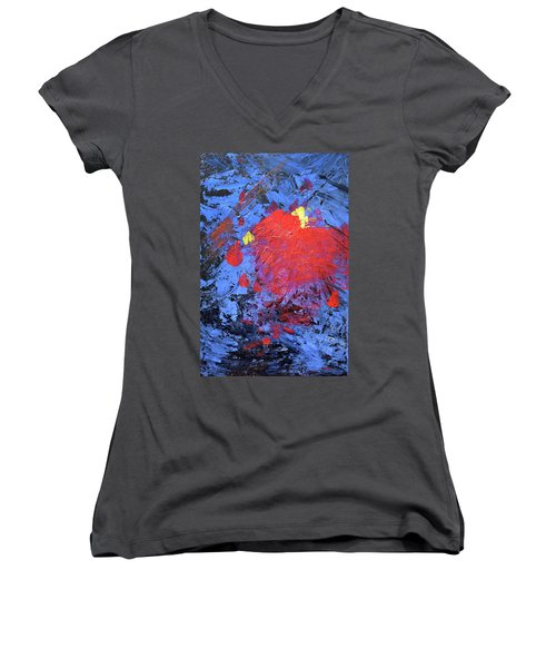 Untitled Abstract-7-817 Women's V-Neck (Athletic Fit)