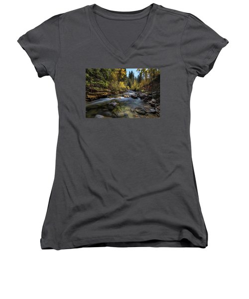 Up A Colorado Creek Women's V-Neck