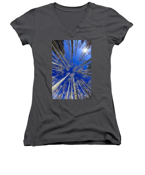 Up Women's V-Neck T-Shirt