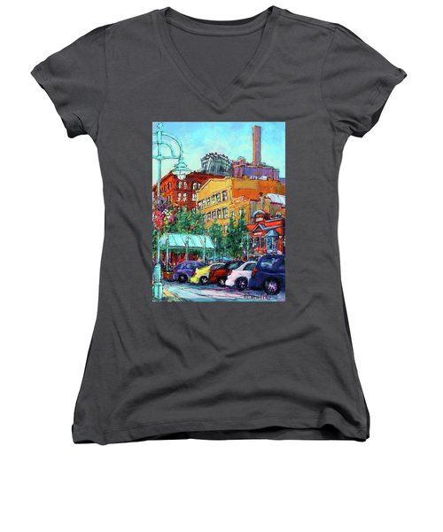 Up On Broadway Women's V-Neck T-Shirt