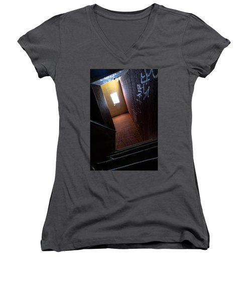 Up The Stairs Women's V-Neck