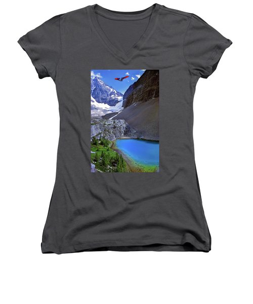Up, Up, And Away Women's V-Neck