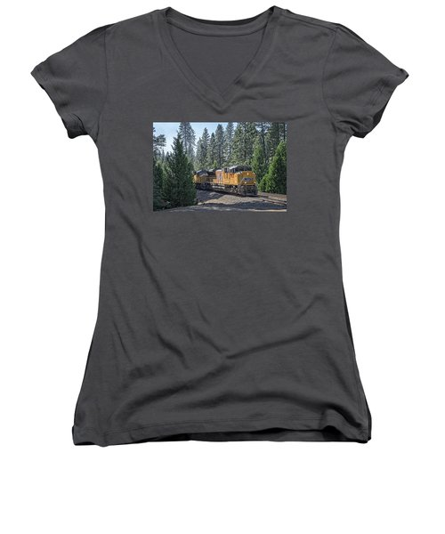 Up8968 Women's V-Neck T-Shirt (Junior Cut) by Jim Thompson