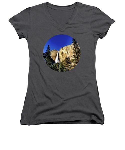 Upper Falls Women's V-Neck T-Shirt (Junior Cut) by Adam Morsa