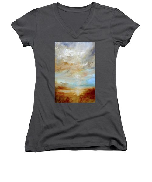 Upwardly Mobile Women's V-Neck T-Shirt