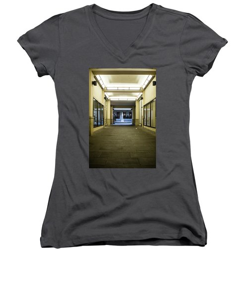 Women's V-Neck featuring the photograph Urban Framing by Matthew Wolf