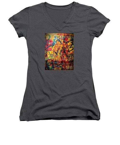 Urban Grunge Four Women's V-Neck T-Shirt