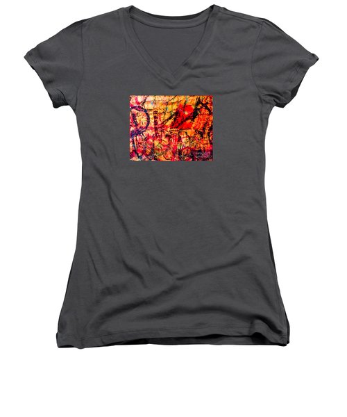 Urban Grunge One Women's V-Neck T-Shirt