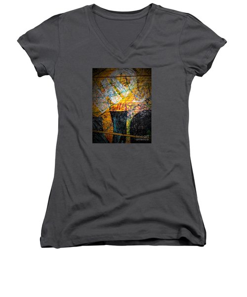 Urban Grunge Three Women's V-Neck T-Shirt (Junior Cut)