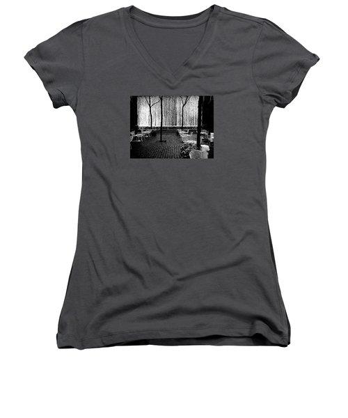 Urban Waterfall Women's V-Neck T-Shirt (Junior Cut) by M G Whittingham