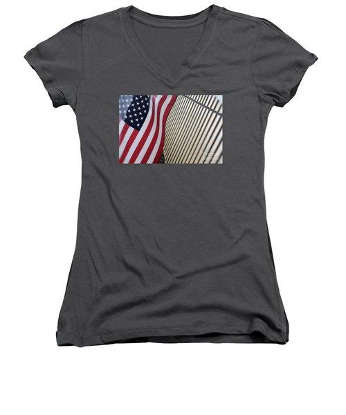Usa All The Way Women's V-Neck T-Shirt