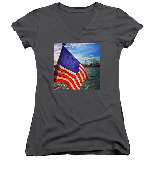 An American Tale Women's V-Neck (Athletic Fit)