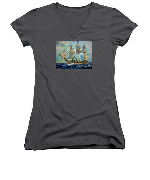 Uss United States Women's V-Neck (Athletic Fit)