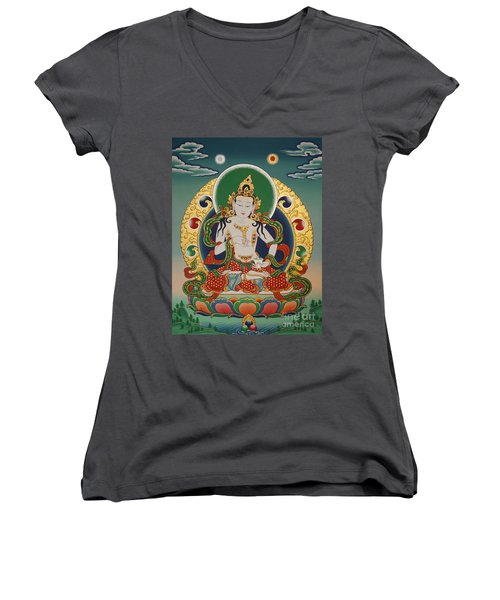 Vajrasattva Women's V-Neck (Athletic Fit)