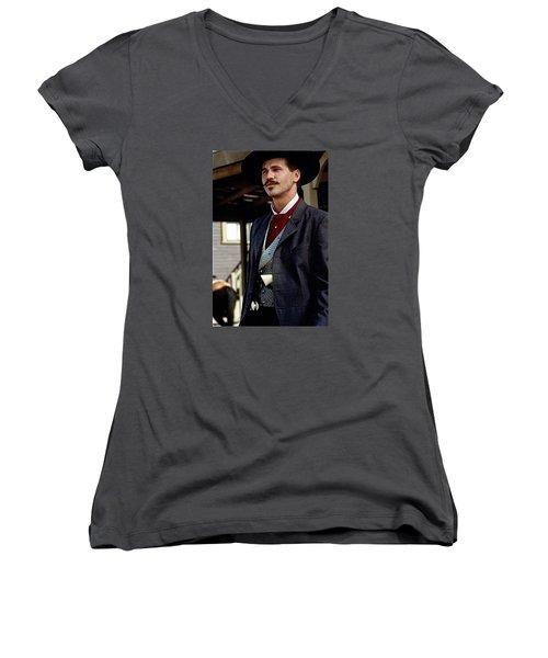 Val Kilmer As Doc Holliday Tombstone Set 1993-2015 Women's V-Neck