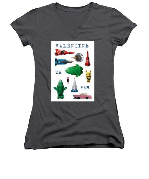 Valentine Ur Fab Women's V-Neck T-Shirt