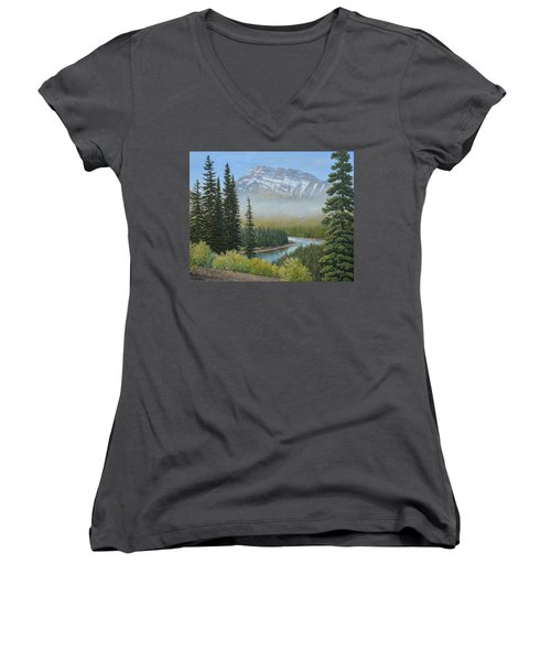 Valley Floor Women's V-Neck (Athletic Fit)