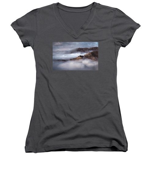 Valley In The Clouds Women's V-Neck T-Shirt