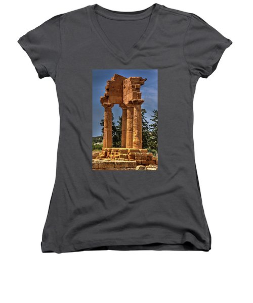 Valley Of The Temples I Women's V-Neck (Athletic Fit)