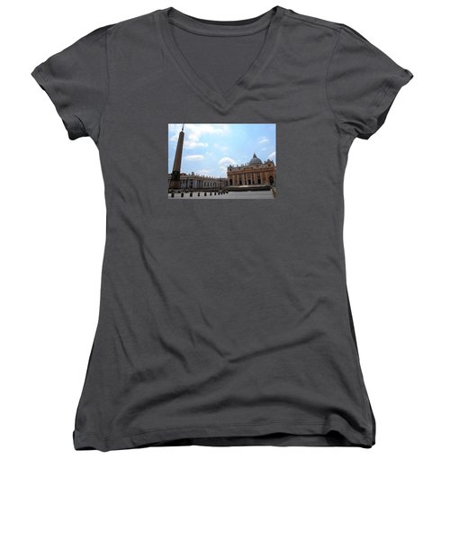 Vatican On Sunny Day Women's V-Neck T-Shirt