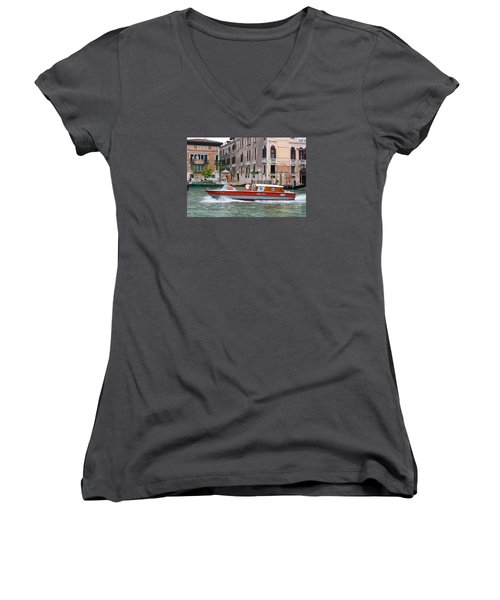 Venetian Ambulance Women's V-Neck T-Shirt