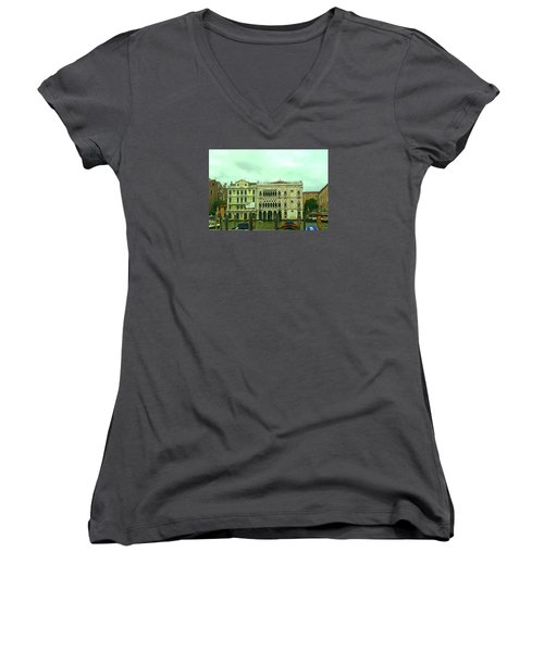 Women's V-Neck T-Shirt featuring the photograph Venetian Aternoon by Anne Kotan